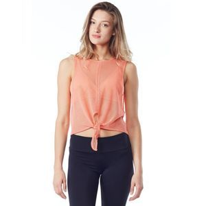 Free People Movement Coral Mesh Tie Up Tank Top S